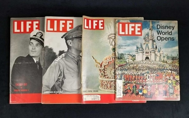 Lot of 4 Vintage LIFE Magazines Including The Opening