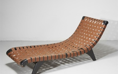 Mid-Century Modern Chaise, 20th century H: 27 1/4 in.,...