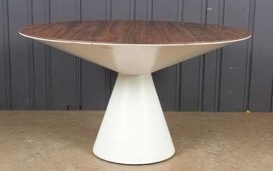 Modern Conoid Form White Table