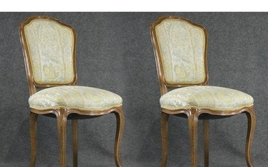 Pair French Victorian Parlor Chairs, Clean.