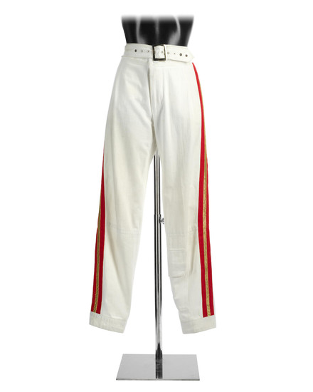 Queen: A pair of Freddie Mercury's trousers, as worn for the final tour,