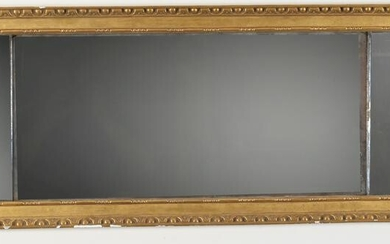 Regency carved and gilt gesso over mantle mirror, circa