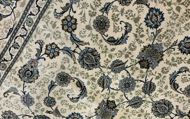 Semi Antique Hand Woven Persian signed Kashan 8x12.4