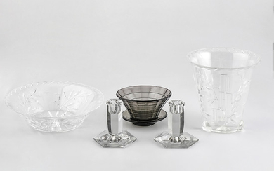 Several glass items, third quarter of the 20th Century.