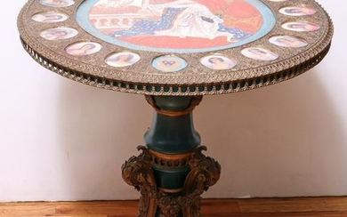 Sevres Style Bronze Mounted Center Table