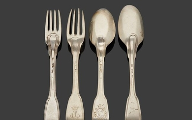 Silver cutlery set, 1st title 950‰, consisting of...