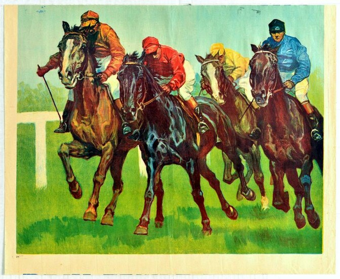 Sport Poster Horse Racing Flat Track