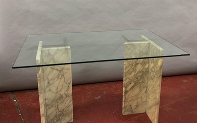 Table and coffee table Grey marble