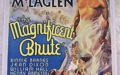 The Magnificent Brute (1936) US 1SH Movie Poster LB