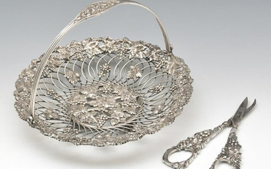 Theodore Starr Sterling Silver Grape Basket and Shears