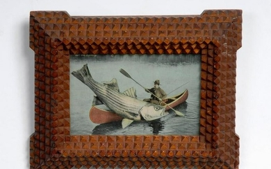 Tramp Art Frame - Exaggerated Fish PC