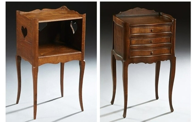 Two French Louis XV Style Carved Nightstands, 20th c.