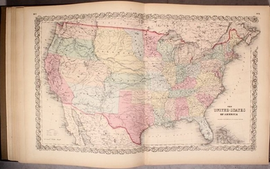"""Uncommon Colton Atlas Focused on the Americas, """"Colton's Atlas of America, Illustrating the Physical and Political Geography of North and South America and the West India Islands..."""", Colton, Joseph Hutchins"""