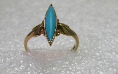 Vintage 10kt gold True Art Deco Ring, size 3, 1.43
