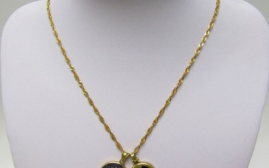 12,50 gr. - 49 cm. - 18 kt. Yellow gold - Necklace with pendant