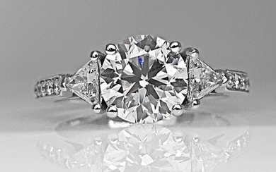 18 kt. White gold - Ring - 1.87 ct Diamond - No Reserve D/VS1