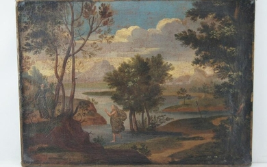 18th Century French School - The Monk and the Traveler
