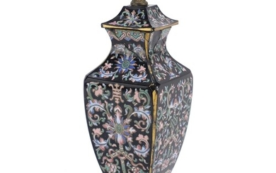 19th century French aesthetic glass vase and cover attribute...