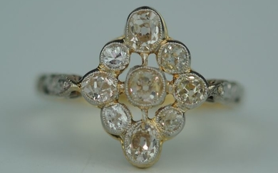 Old Cut Diamond Marquise - 18 kt. Yellow gold - Ring