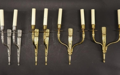 6 Neoclassical Style Metal Wall Sconces