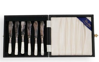 (6 Pc) Set Of Sheffield Sterling and Mother of Pearl
