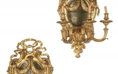 61081: A Pair of French Régence-Style Gilt Bronz