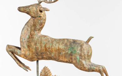 Molded Sheet Copper Leaping Stag Weathervane