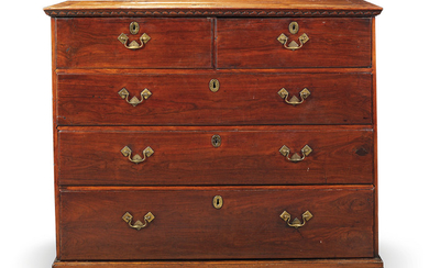 A CHINESE EXPORT PADOUK AND ROSEWOOD CHEST, SECOND HALF 18TH CENTURY