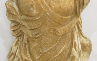 A Classical style carved stone torso