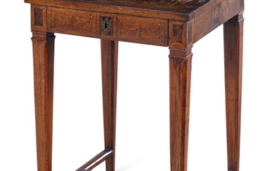 A Louis XVI Burlwood and Parquetry Table