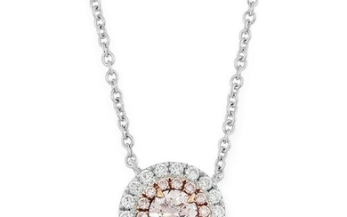 A PINK AND WHITE DIAMOND PENDANT comprising of a