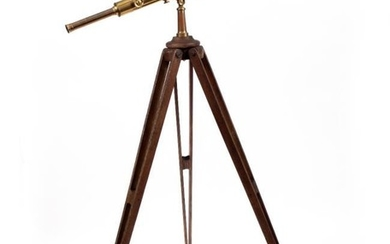 A VICTORIAN BRASS TELESCOPE by Cary of 181 The...