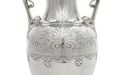 A Victorian silver two-handled vase, Hennell