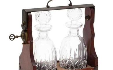A Vintage Tantalus with Waterford Decanters