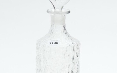 A WHITEFRIARS G BAXTER BARK PATTERN DECANTER, 34 CM HIGH, LEONARD JOEL LOCAL DELIVERY SIZE: SMALL