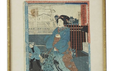 A collection of eleven Japanese woodblock prints