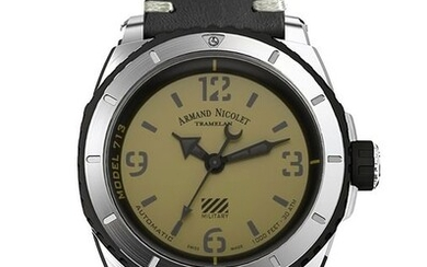 Armand Nicolet - S05-3 Military Automatik - A713PGN-VN-PK4140NR - from official dealer - Men - 2011-present