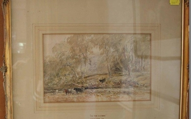 Attributed to David Cox Jnr 'On the Conway' Pencil and water...