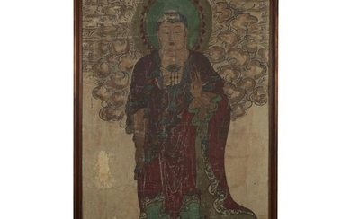 CHINESE SCHOOL Ming dynasty or later BUDDHA STANDING Ink,...
