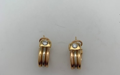Cartier - 18 kt. Pink gold, White gold, Yellow gold - Earrings