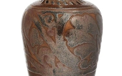 Charles Vyse (1882-1971), a stoneware vase 1928, incised initials and...