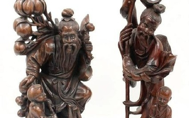 Chinese Carved Wood Figures (2)
