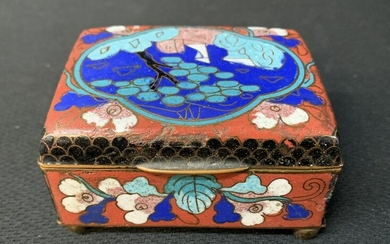 Chinese Cloisonne Lidded Box