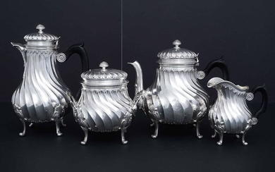 Coffee and tea service (4) - .950 silver - Leon Lappar (1878-1897) - France - circa 1900