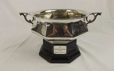 Edwardian Silver Rose Bowl And Stand From The Goriajan