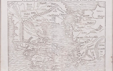 Europe. Sebastian Munster (1489-1552) after Ptolemy (c. 100-c. 170 AD), Four Woodcut Maps, Late 16th Century.