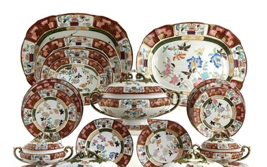 *Extensive Ashworth Bros. ironstone partial dinner service (89pcs)