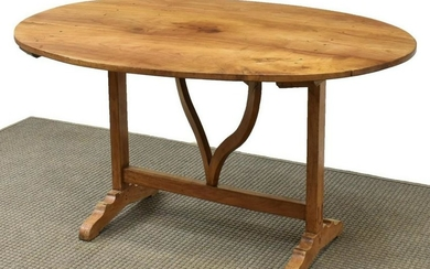 FRENCH PROVINCIAL TILT-TOP WINE TASTING TABLE