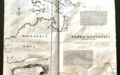 First English language map of Australia. RARE and