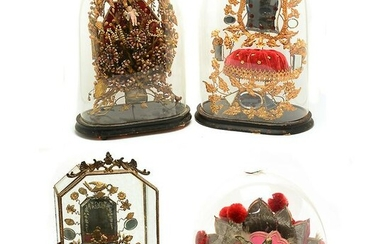 Four Domed Reliquary Style Decorations.